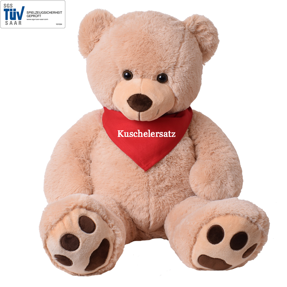 xxl riesen teddy b r kuscheltier teddyb r beige pl sch liebe love 100 cm ebay. Black Bedroom Furniture Sets. Home Design Ideas