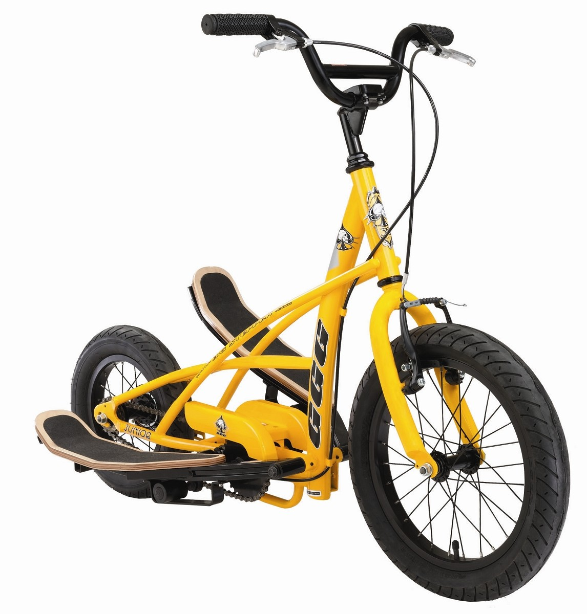 stepperbike crossbike fahrrad crosstrainer funbike stepper bike 3g junior gelb ebay. Black Bedroom Furniture Sets. Home Design Ideas