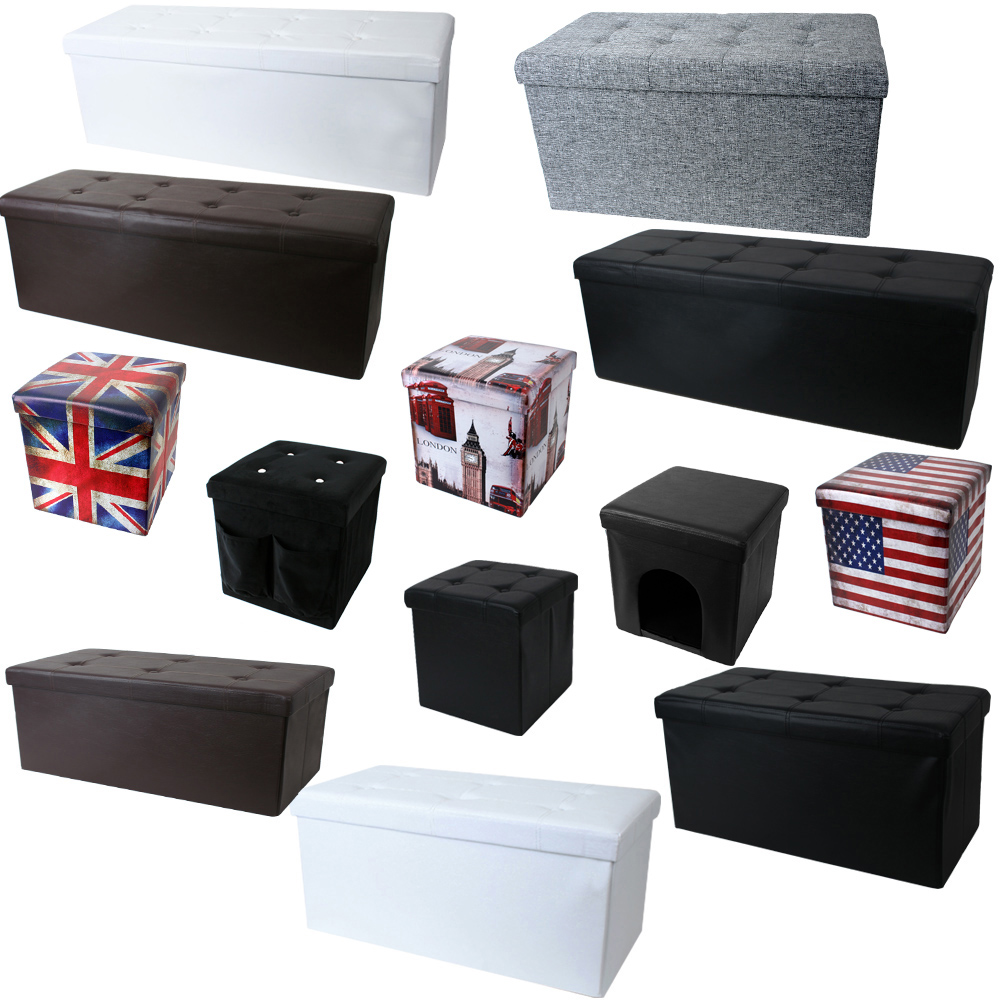 Cube Stool Sitting Folding Collapsible Seating Bench Seat